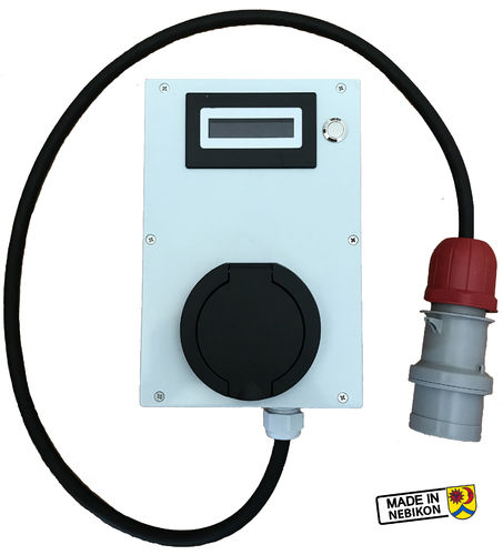 Wallbox Elektroscout Typ2, 11kW, 3phasig, 16A, mit CEE16-5 Stecker